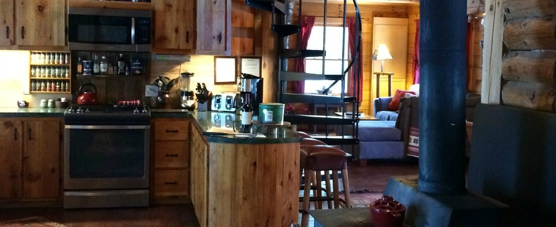 cabin rental kitchen